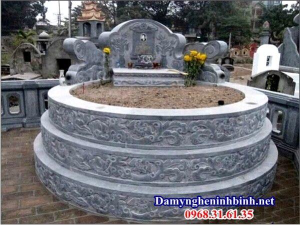 Kích thước mộ tròn đá 07