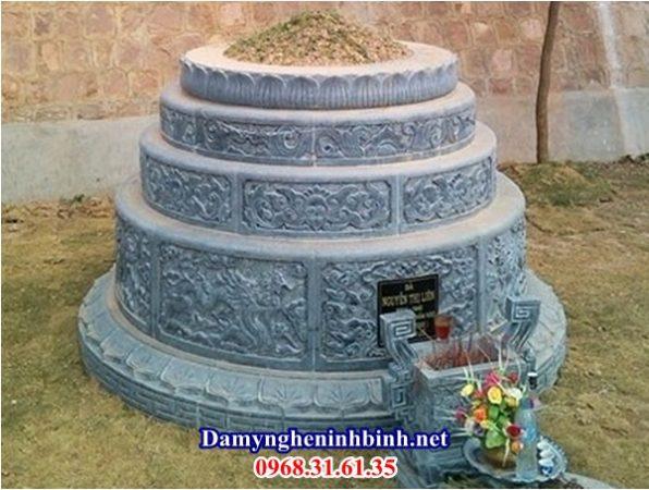 Mẫu mộ đá tròn 11