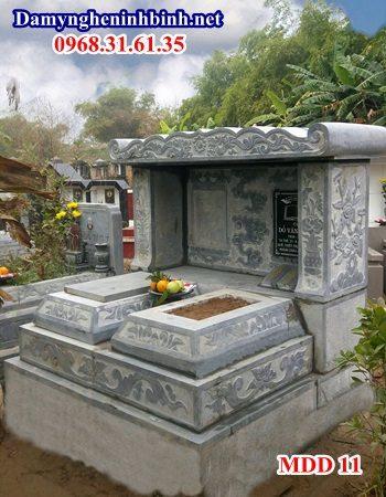 Mẫu mộ đôi ốp đá granite 11
