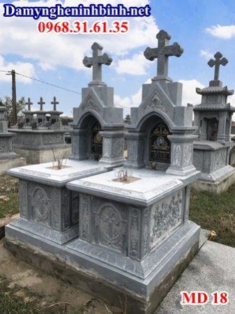 Mẫu mộ ốp đá granite đẹp