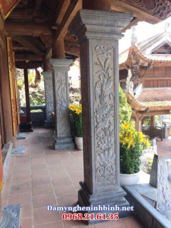 Cột đá đình chùa 17