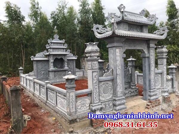 Lan can đá khu mộ 24